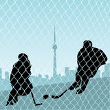 Hockey Players. Illustration of ice hockey players Stock Photo