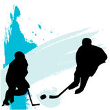 Hockey Players. Illustration of ice hockey players Royalty Free Stock Photography