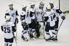 Hockey Players celebrate the Win Stock Photography