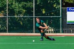 Hockey Players Glenwood Passing Ball Stock Image