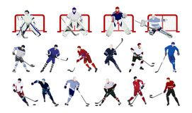 Hockey players set. Stock Photography