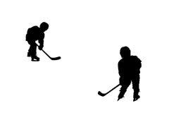 Hockey players silhouettes Royalty Free Stock Photos