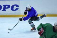 Hockey players in training Stock Photos