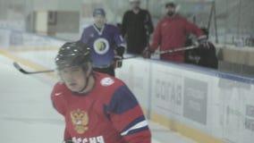 Hockey Players Training stock video