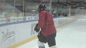 Hockey Players Training stock video footage