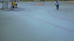 Hockey Players Trainning stock video