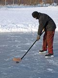 Hockey on pond 2 Stock Photo