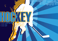 Hockey poster Royalty Free Stock Images