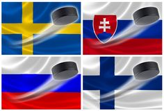 Hockey Powerhouse Nations of Europe Stock Photography