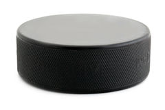 Hockey puck. Puck on the white background royalty free stock photo
