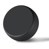 Hockey puck. The hockey puck isolated on white Royalty Free Stock Photography