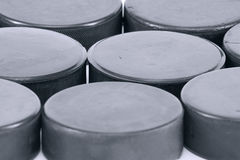Hockey puck. Background Royalty Free Stock Photography