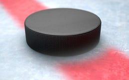 Hockey Puck Centre Stockfoto