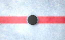 Hockey Puck Centre Stockbilder