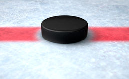 Hockey Puck Centre Stock Images