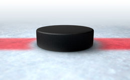 Hockey Puck Centre Royalty Free Stock Images