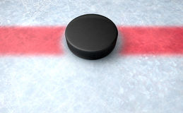 Hockey Puck Centre Royalty Free Stock Photos