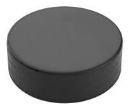 Hockey-Puck lokalisiert auf weißem Hintergrund Lizenzfreie Stockfotos