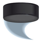 Hockey puck shot Royalty Free Stock Photo