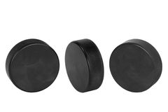 Hockey Pucks Royalty Free Stock Photo