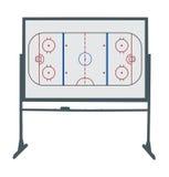 Hockey ring board. Illustration of a hockey board Royalty Free Stock Images