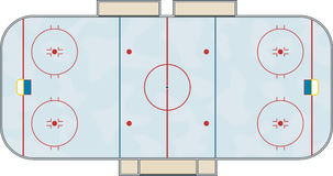 Hockey rink. An illustration of a hockey rink done in illustrator Royalty Free Stock Photography