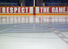 Hockey rink. Ice rink for playing hockey stock images
