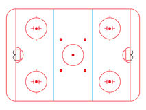 Hockey rink Royalty Free Stock Photography
