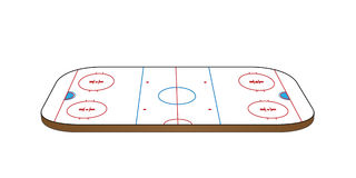 Hockey Rink 3D Perspective Royalty Free Stock Image