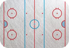 Hockey rink. Hockey court, Playground  isolated, ice background. Hockey pitch backdrop Royalty Free Stock Images