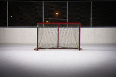 Hockey Rink Net royalty free stock image