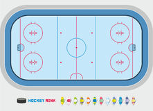 Hockey rink. An overhead view of an ice hockey rink Stock Image