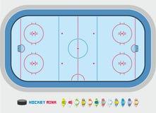 Hockey rink Stock Image