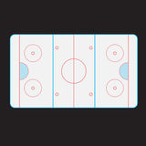Hockey rink. The partitioning of the top ice hockey rink Royalty Free Stock Photos