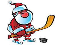 Hockey Santa Stock Photos