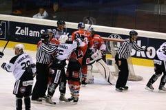 Hockey scrum Stock Image