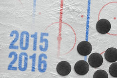 Hockey 2015-2016 seizoen van het jaar Stock Foto