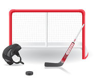 Hockey set vector illustration Royalty Free Stock Image