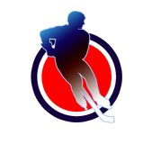 Hockey sign2. Hockey illustration in the circle Royalty Free Stock Photo