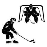 Hockey silhouette royalty free stock photo