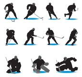 Hockey Silhouettes Royalty Free Stock Photo
