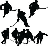 Hockey Silhouettes Stock Photography