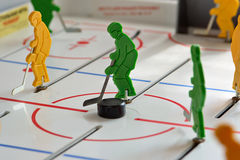 Hockey situation. Hockey conept: hockey protection situation Stock Photography