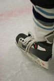 Hockey skate. Close up of hockey player's skate Stock Photography