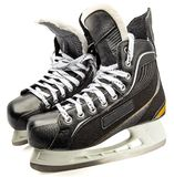 Hockey skate. Male ice skate isolate against white background stock photo