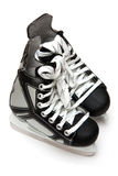 Hockey Skates. Pair of leather ice hockey skates Stock Photos