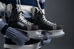 Hockey skates Stock Images