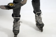 Hockey Skates, Puck and Stick - Horizontal Stock Photography