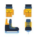 Hockey skates vector illustration ice boots pair. Royalty Free Stock Photos
