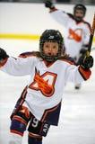 Hockey sobre hielo de la juventud Imagen de archivo libre de regalías